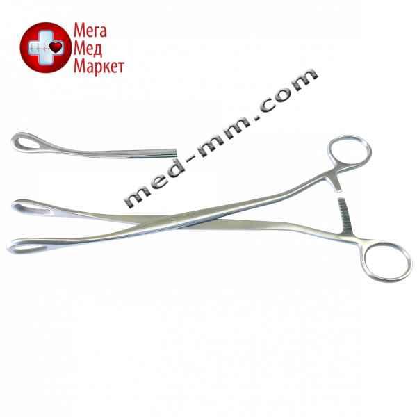 Купить Зажим гинекологический для абортов окончатый изогнутый Длина 27 см цена, характеристики, отзывы